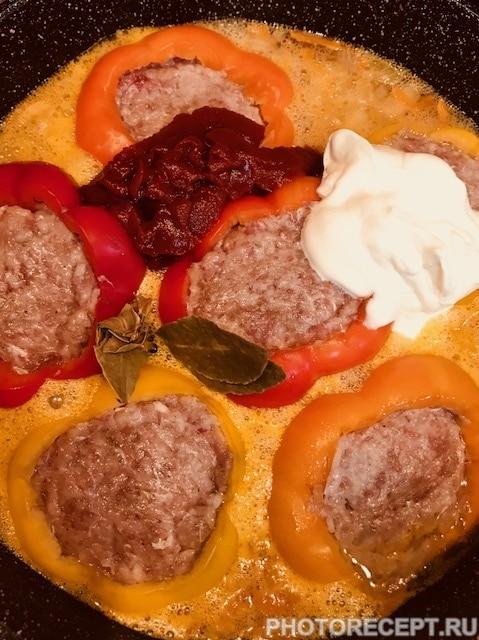 Фото рецепта - Перец фаршированный фаршем и рисом - шаг 9
