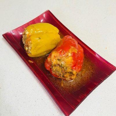 Перец фаршированный фаршем и рисом - рецепт с фото