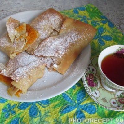 Турта–греческий пирог с тыквенной начинкой - рецепт с фото