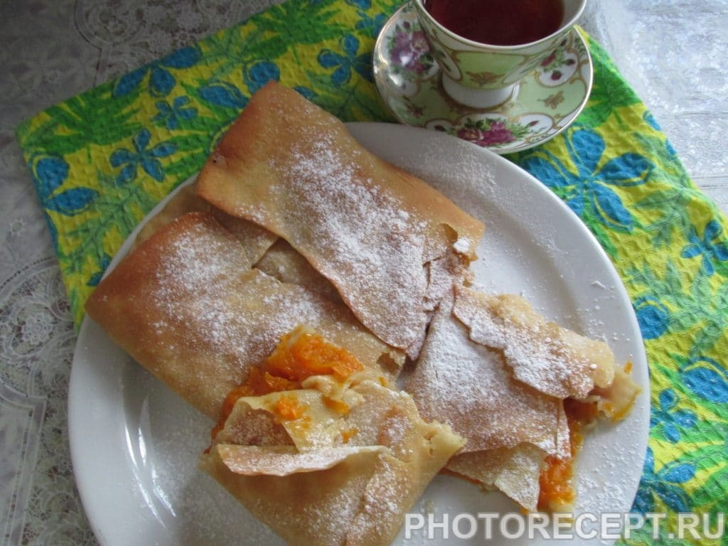 Фото рецепта - Турта–греческий пирог с тыквенной начинкой - шаг 4
