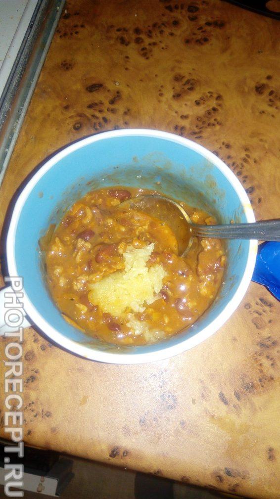 Фото рецепта - Фасоль с макаронами в томатно-чесночном соусе - шаг 4