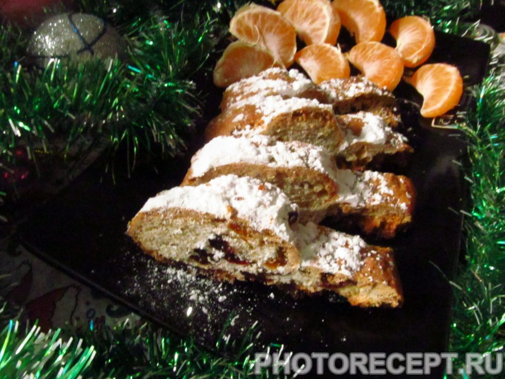 Фото рецепта - Рождественский кекс штолен из песочного теста - шаг 13