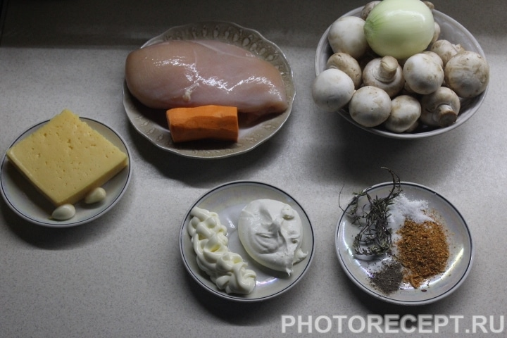 Фото рецепта - Куриные котлеты под грибной сырной шубой - шаг 1