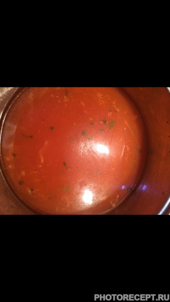 Фото рецепта - Суп с фрикадельками по-турецки - шаг 6