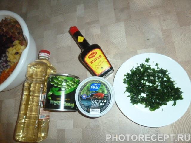 Фото рецепта - Полезный винегрет с морской капустой - шаг 3
