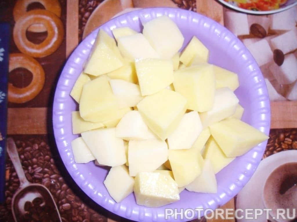 Фото рецепта - Тушеная картошка с мясом - шаг 3