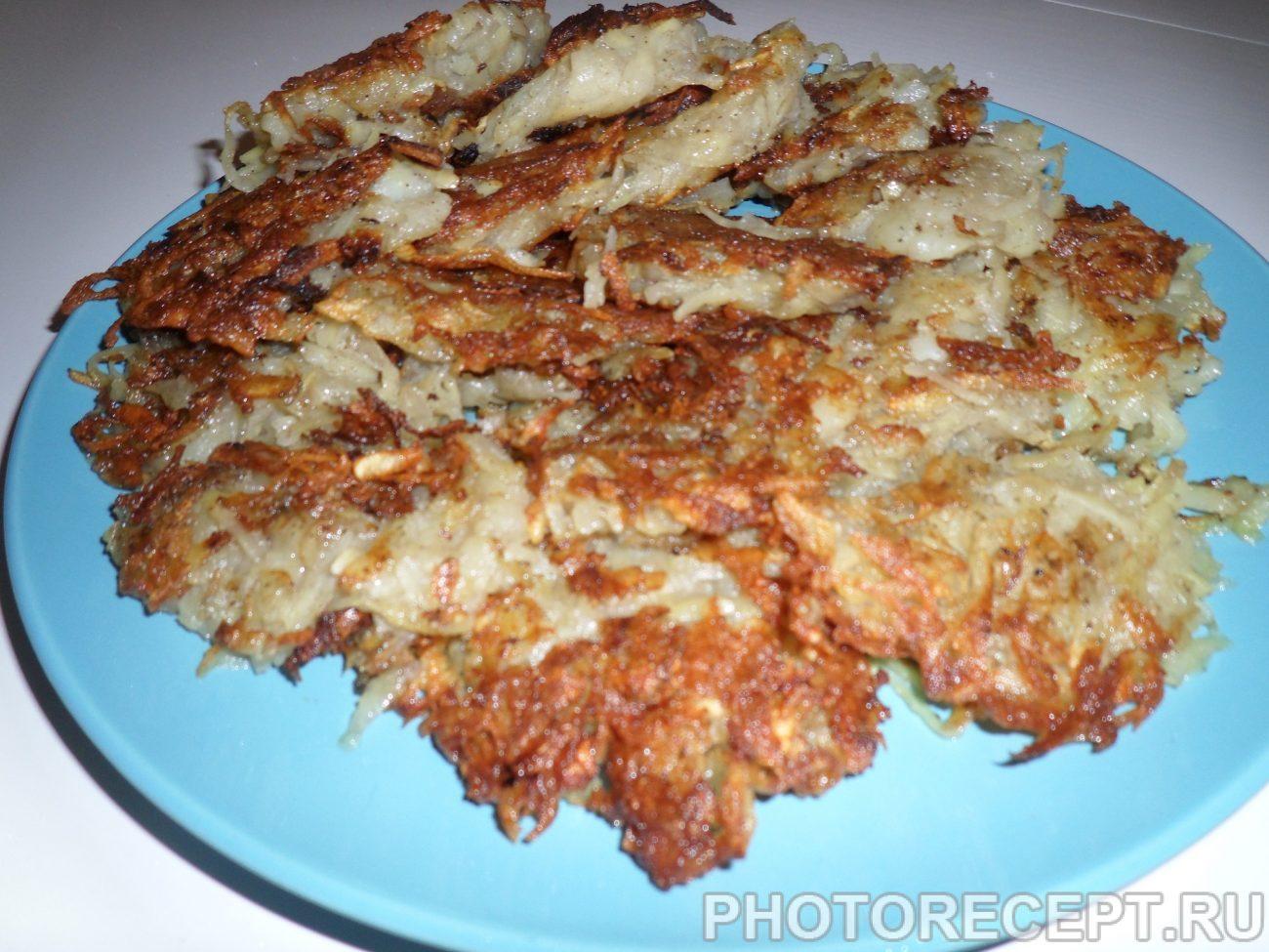 Драники (картофельные оладьи) без муки