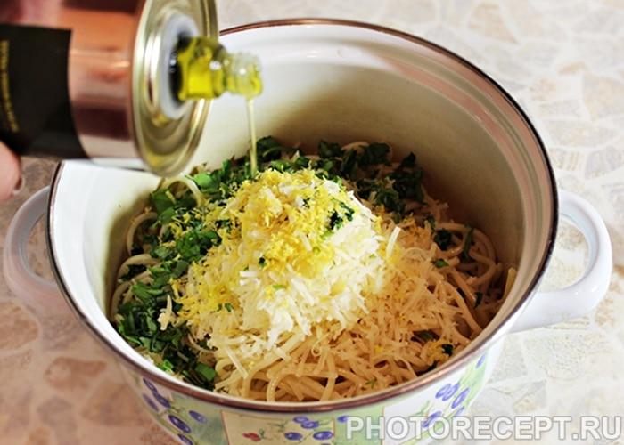 Фото рецепта - Спагетти в лимонном соусе - шаг 4