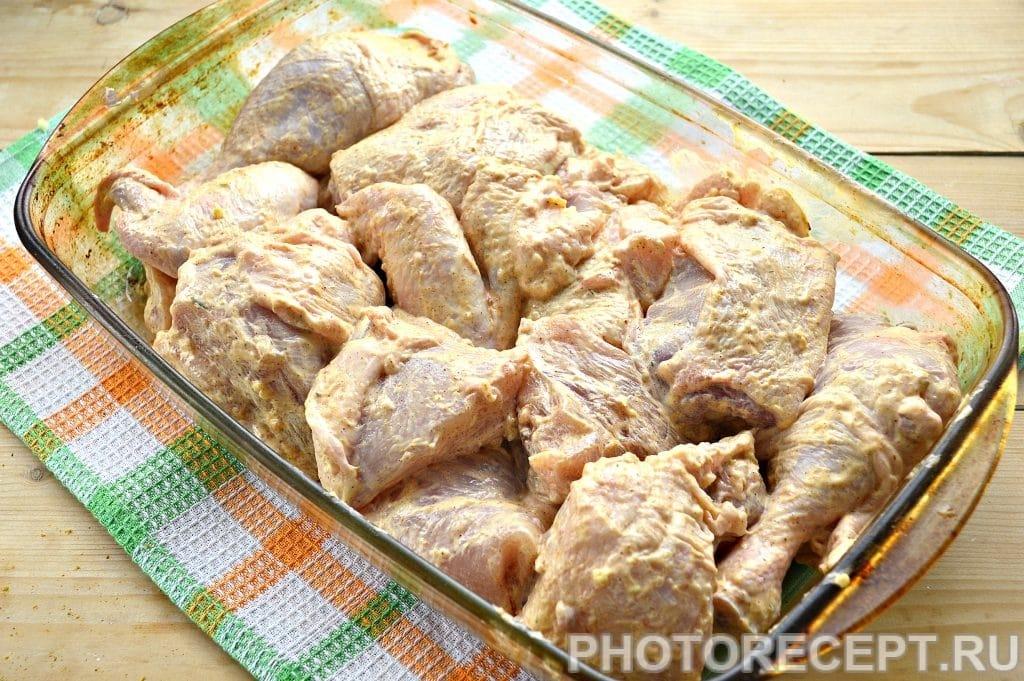 Фото рецепта - Курица, запеченная в духовке кусочками - шаг 5