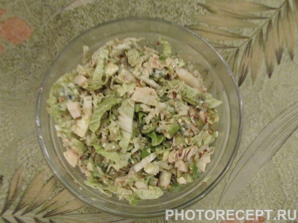Фото рецепта - «Шик» – нежный салат с авокадо и сыром Дор-Блю - шаг 3