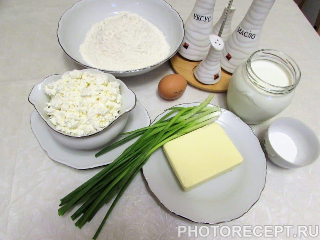 Фото рецепта - Кавказские лепешки с творогом и зеленью - шаг 1