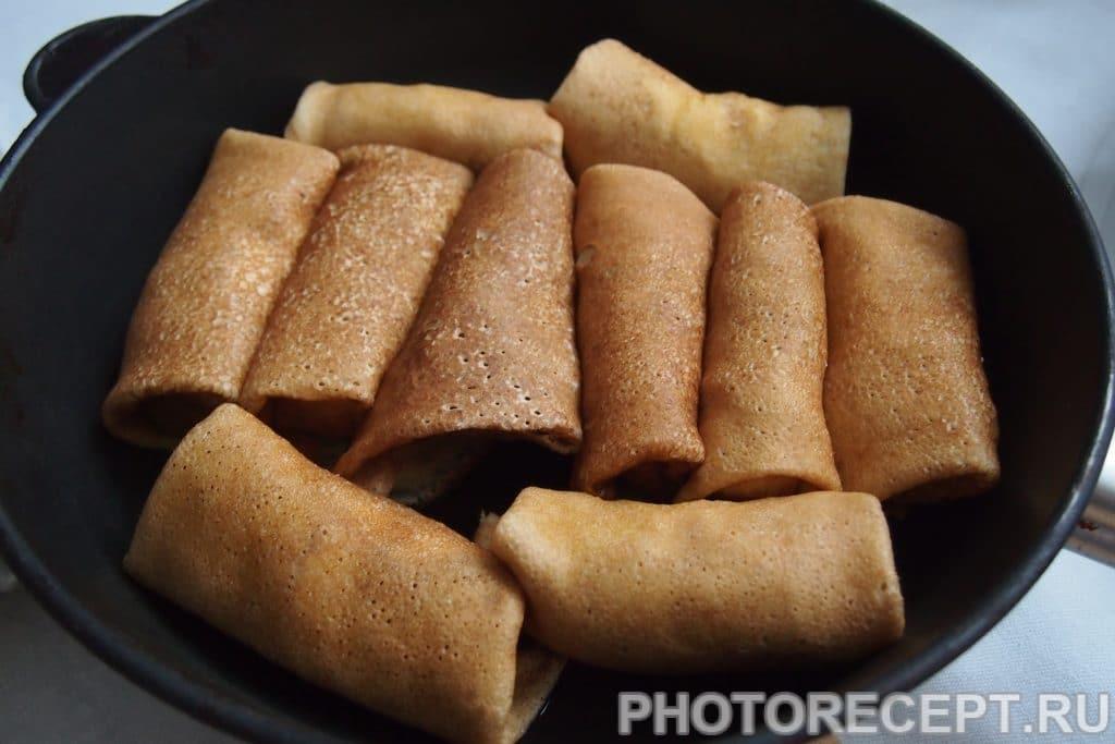 Фото рецепта - Заварные блины со сметаной и творогом - шаг 12