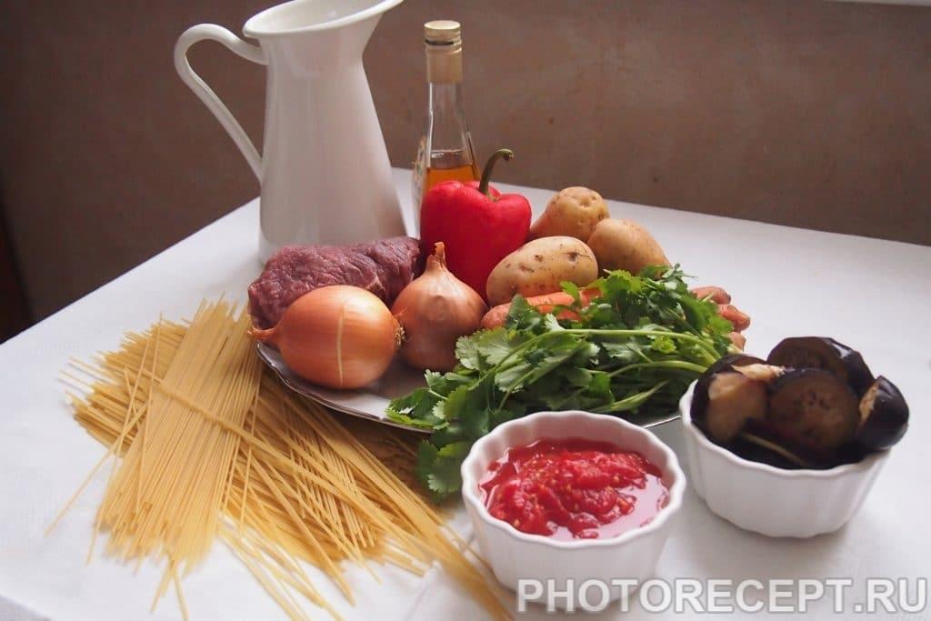 Фото рецепта - Лагман жареный по-узбекски - шаг 1
