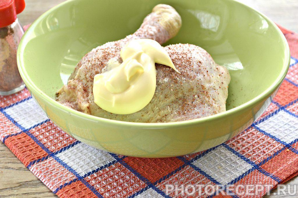 Фото рецепта - Запеченный окорочок с румяной корочкой - шаг 2