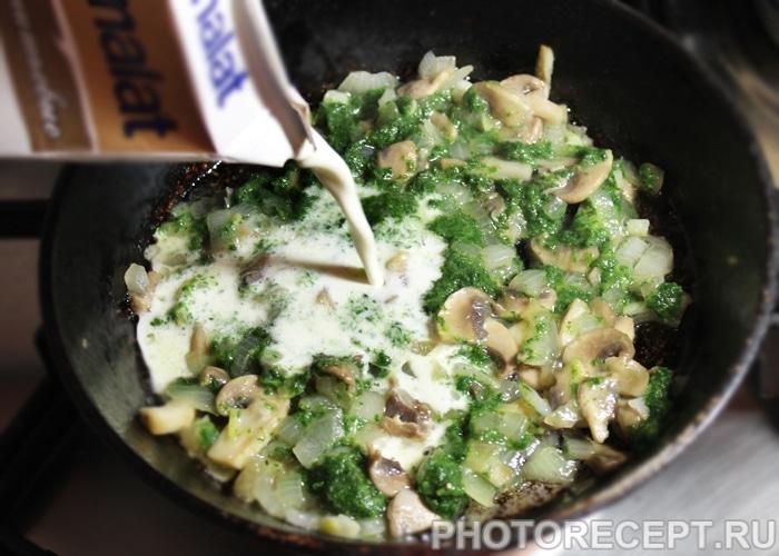 Фото рецепта - Запеченная дорадо, фаршированная грибами и шпинатом - шаг 5