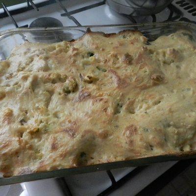 Фото рецепта - Цветная капуста и брокколи, запеченные под сливочным соусом - шаг 10