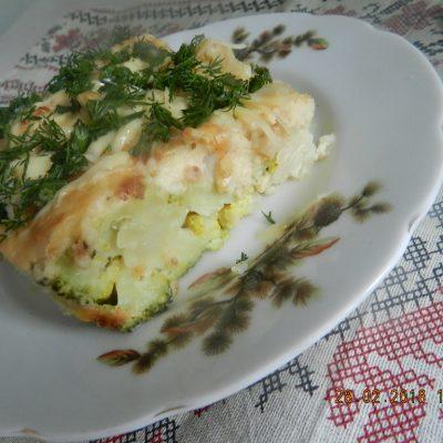 Цветная капуста и брокколи, запеченные под сливочным соусом - рецепт с фото
