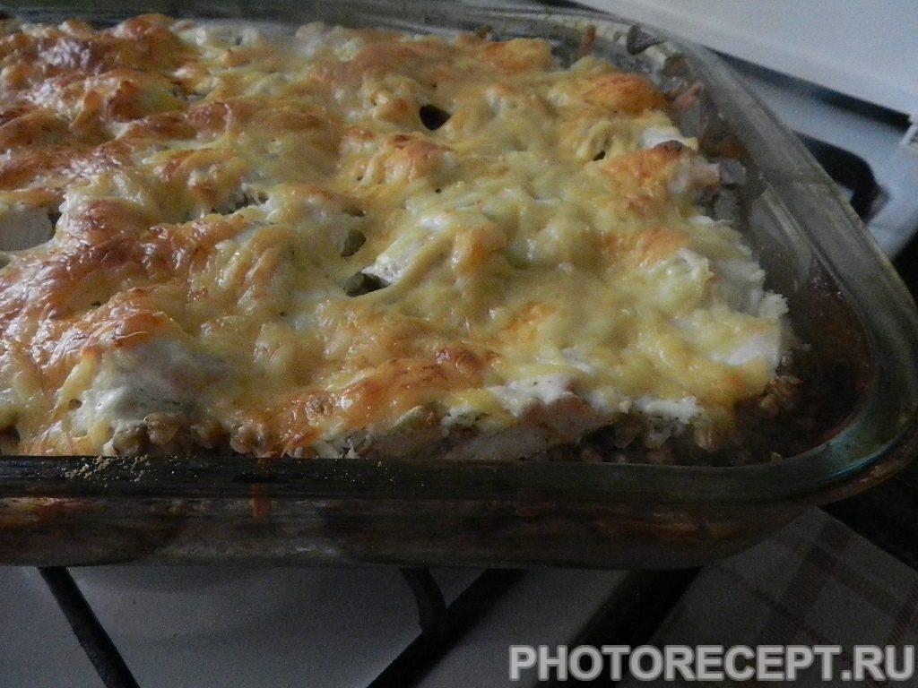 Фото рецепта - Куриное филе с гречкой, запеченное в духовке - шаг 10