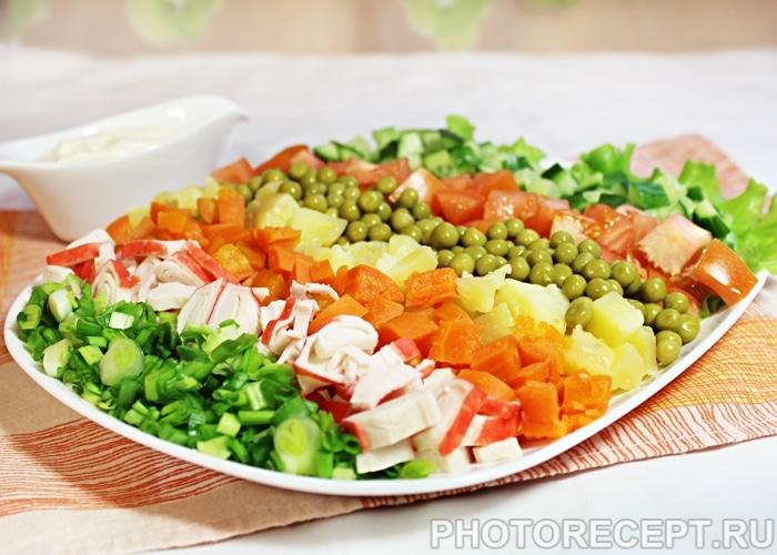 с крабовыми палочками салат рецепт