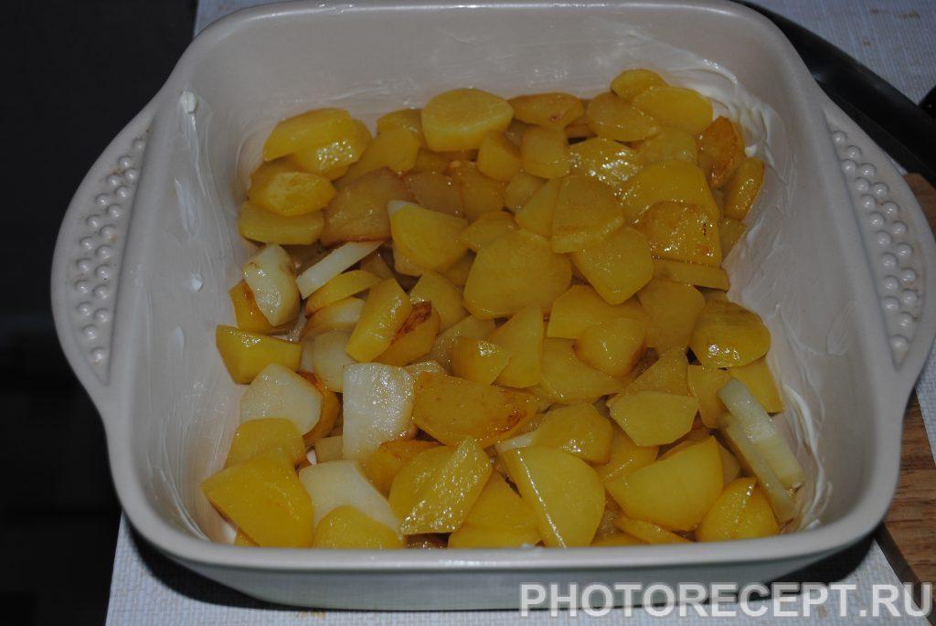 Фото рецепта - Картофельная запеканка с шампиньонами - шаг 4