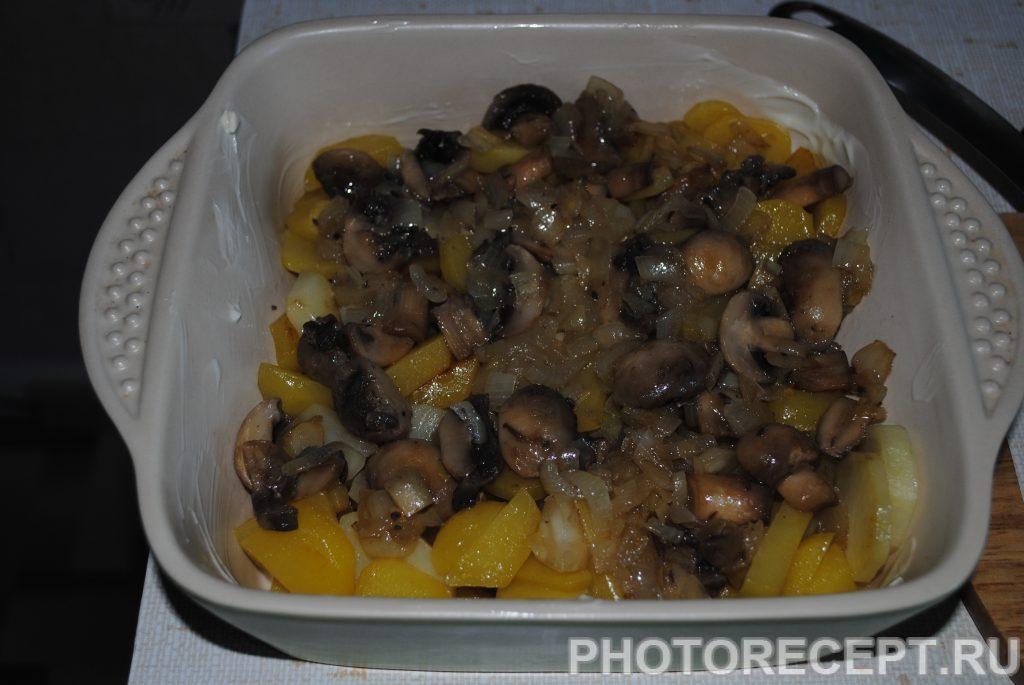 Фото рецепта - Картофельная запеканка с шампиньонами - шаг 5