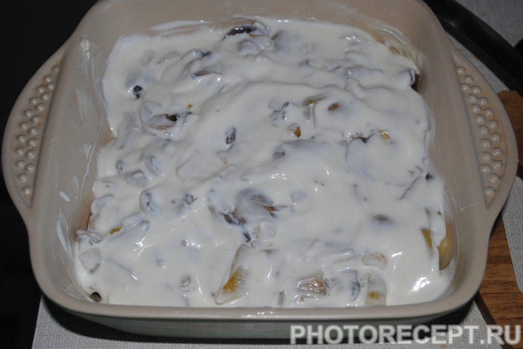 Фото рецепта - Картофельная запеканка с шампиньонами - шаг 6