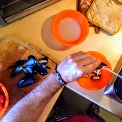 Фото рецепта - Спагетти с мидиями - шаг 4
