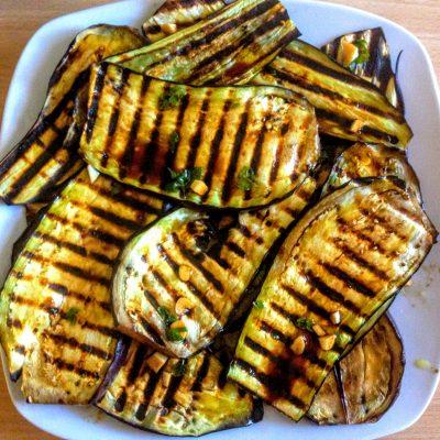 Баклажаны с чесноком, на гриле - рецепт с фото