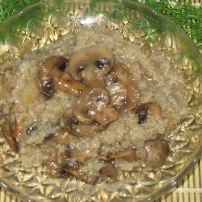 Ячневая каша с грибами - рецепт с фото