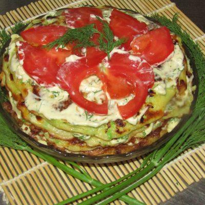 Кабачковый торт с томатами - рецепт с фото