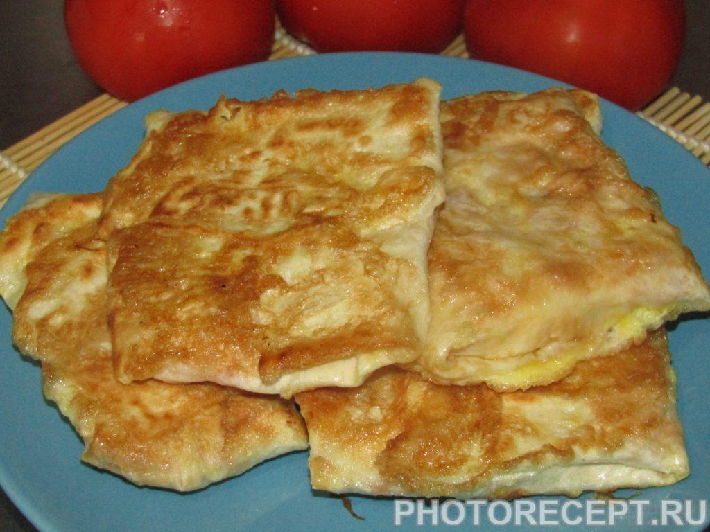 Фото рецепта - Жареные конвертики из лаваша - шаг 5