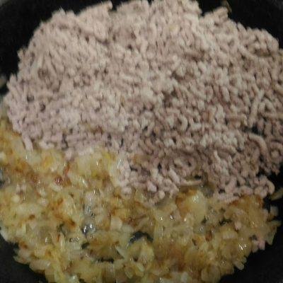Фото рецепта - Блинчики ажурные фаршированные мясной начинкой - шаг 3