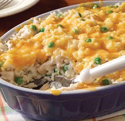 Запеканка из рыбы с рисом и горошком - рецепт с фото