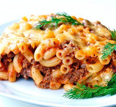 Макаронная запеканка с мясом - рецепт с фото
