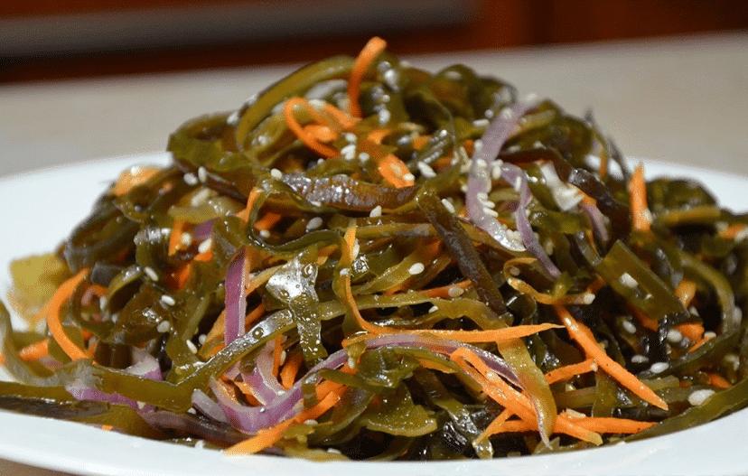 Салат из морской капусты и брынзы «Закат на берегу»