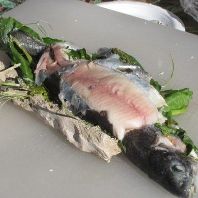 Рыба запеченная в глине - рецепт с фото