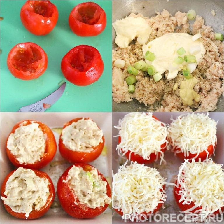 Фото рецепта - Фаршированные помидоры с тунцом и сыром - шаг 1