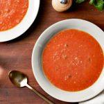 Очень вкусный и простой томатно-чесночный суп