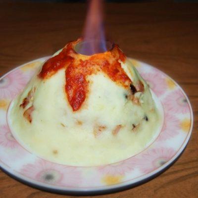 Картофельное пюре «Вулкан» - рецепт с фото