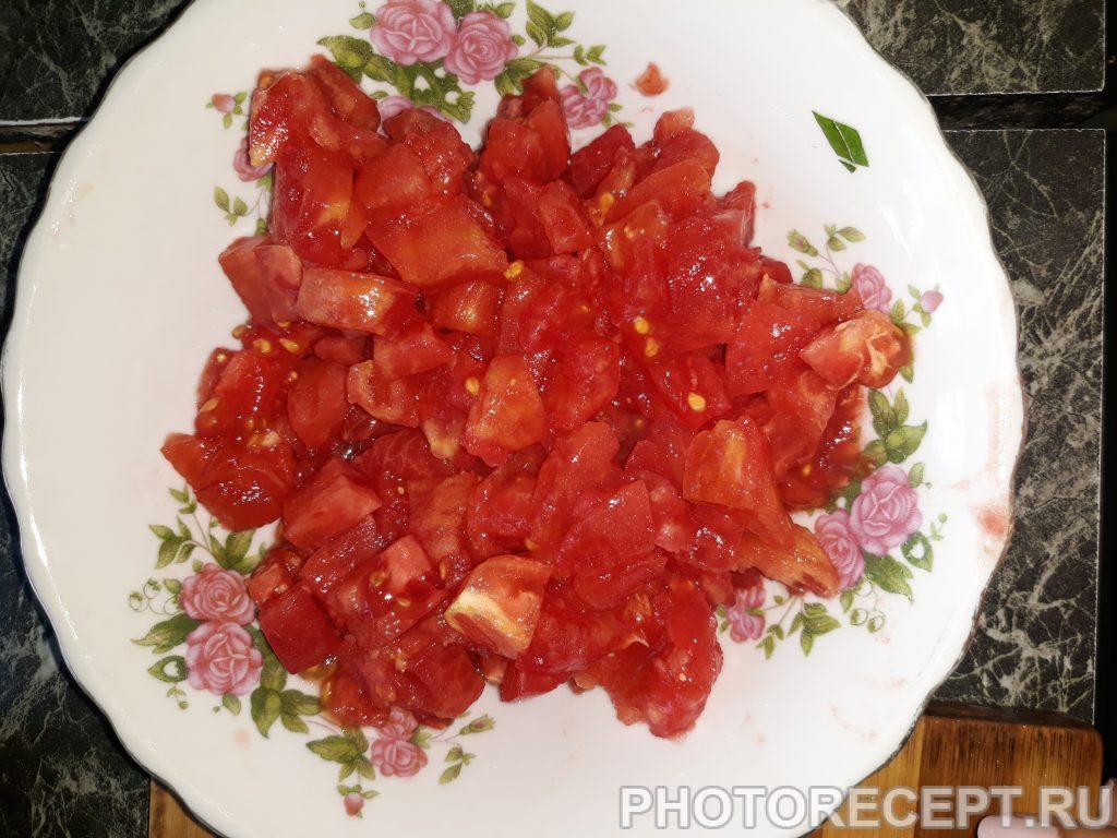 Фото рецепта - Яичница с помидорами - шаг 1