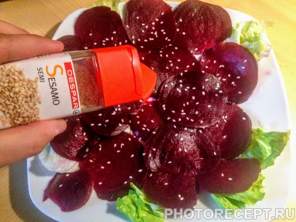 Фото рецепта - Карпаччо из красной свеклы - шаг 3