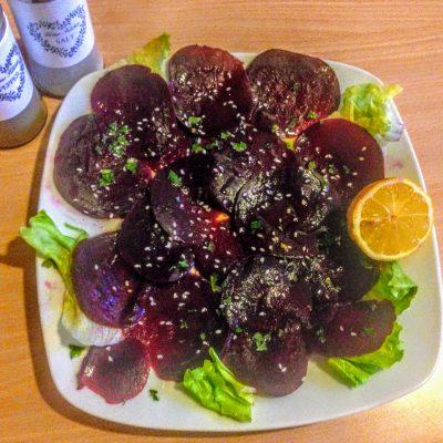Карпаччо из красной свеклы - рецепт с фото