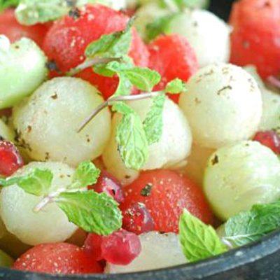 Фруктовый салат из арбуза и дыни - рецепт с фото