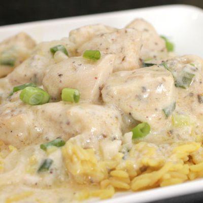 Гюльчехра – тушеная курица в сметане с пряностями - рецепт с фото