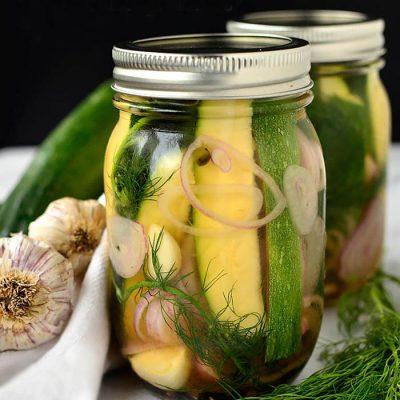 Консервированные кабачки с чесноком и пряностями на зиму - рецепт с фото