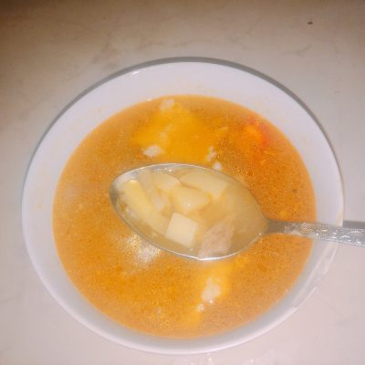 Суп с индейкой и клецками - рецепт с фото