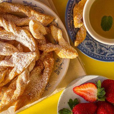 Печенье хворост с цитрусовым ароматом (постное) - рецепт с фото