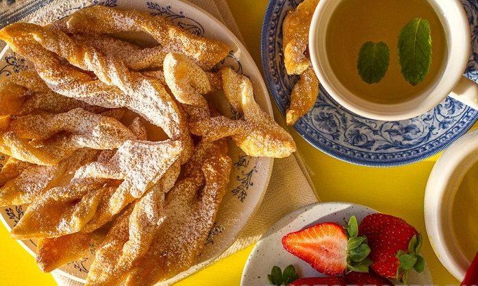 Печенье хворост с цитрусовым ароматом (постное)