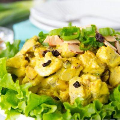 Праздничный салат из индейки с манго - рецепт с фото