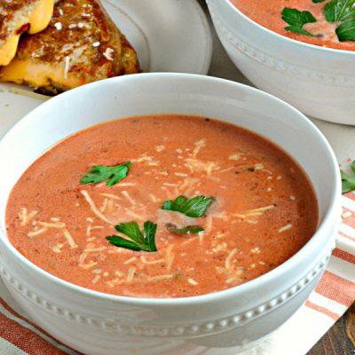 Рисовый суп-пюре с фасолью и помидорами - рецепт с фото
